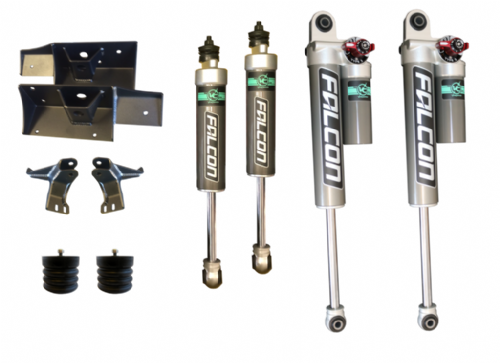Stage 2+ Van Compass Suspension Package With Adjustable Rear Shocks - Sprinter 4X4 2019+ MWB, LWB